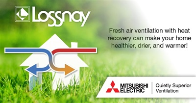 Lossnay VL220 Whole House Fresh Air Balanced Ventilation System