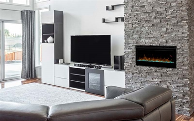 Prism Built-in Electric Fire Insert
