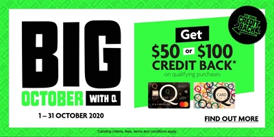 24 Months Interest Free and Cash Back for all of October!
